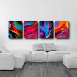 New 4 Piece Gallery Wall Art Set 11x14 Inches